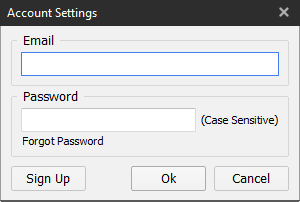 Account Settings window image