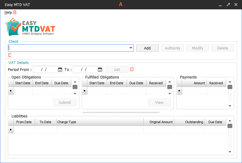 Easy MTD VAT interface image